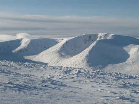 Cairn Toul from Ben MacDui approach