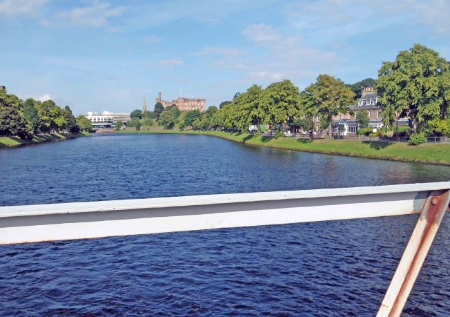 On the Bridge over the river Ness at the start of the ride