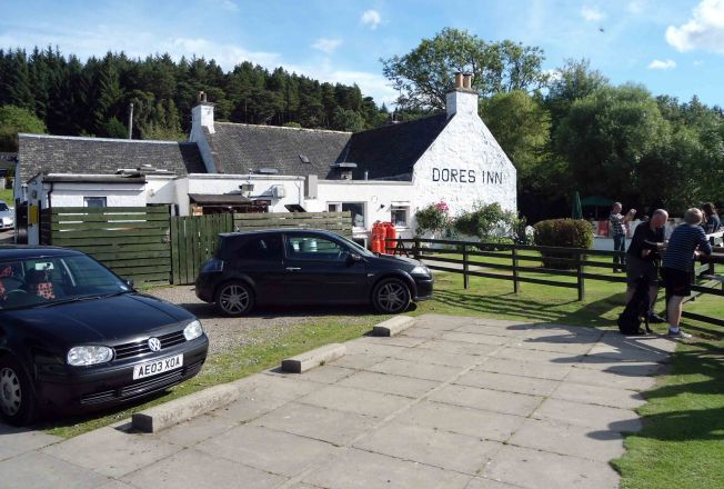 Small Inn at Dores village.  Loos and water here plus ice cream