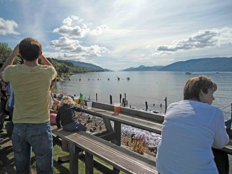 Looking down Loch Ness from Dores