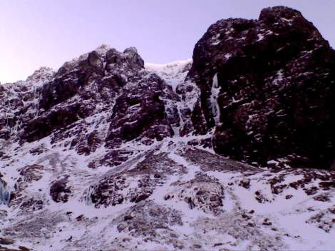 Lean conditions on the North Face of Ben Nevis