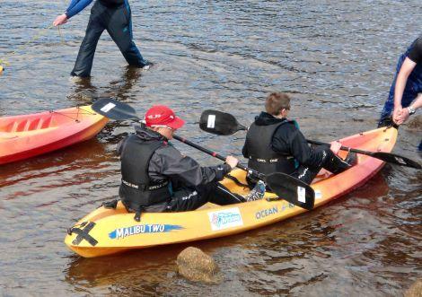 Setting off across Loch Ness