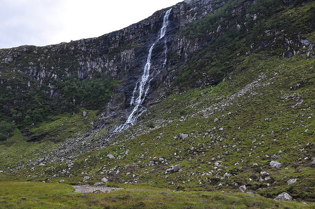 Eas a' Chual Aluinn or a lot of water falling over a cliff. photo Paul Sammonds