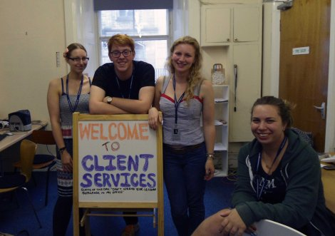 Cvenues client Services team, always cheerful