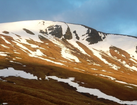 debris of a massive avalanche  half a mile above the bothy