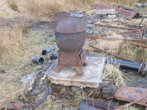 The old stove in the ruins of the Green House