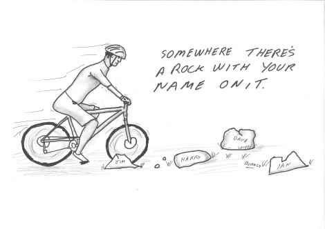 mountain bike, cartoon