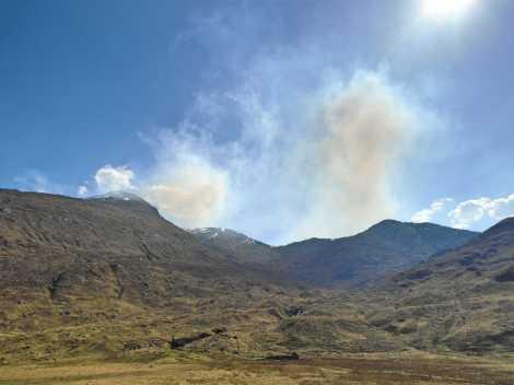 Smoke in the Sky from Glen Pean bothy